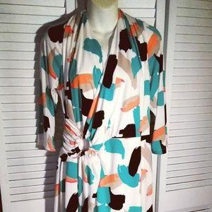 Tahari,Size 16W Faux Wrap Dress
